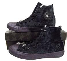 Converse x Miley Cyrus Chuck Taylor All Star Hi BLACK VELVET Glitter 563... - $59.95