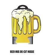 Beer Stein Overflowing Die-Cut Beer Huggie Can Cooler Koozie NEW UNUSED - $5.94