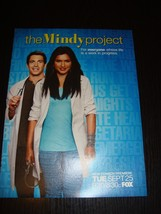 The Mindy Project TV drama 1 magazine clipping AD mini poster Mindy Kaling - $11.30