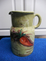 """MADE IN ITALY PITCHER CARROT 7 1/2"""" TALL LOVELY VGC CUTE LOVELY - $23.01"""