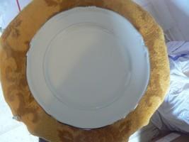 Hutschenreuther Empress Platinum dinner plate (worn verge line) 6 available - $4.46