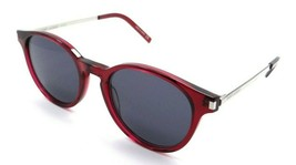 Saint Laurent Sunglasses SL 25 004 49-19-140 Red - Silver / Grey Made in... - $131.32