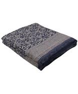 Home Furnishing Bedding Quilt Bedspread Indigo Paisley Jaipuri Block Print - $34.00