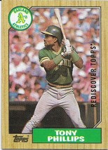 REDISCOVER TOPPS GOLD 1987 TOPPS #188 TONY PHILLIPS ATHLETICS FREE SHIPPING - $1.89