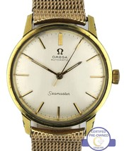 Vintage Men's 14K Yellow Gold-Filled Omega Seamaster 34mm Automatic Swis... - $499.95