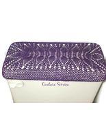Handmade Crocheted Toilet Tank & Lid Cover, Purple - $225.00