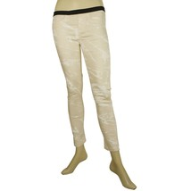Helmut Lang Cream White Marble pattern Jeggins Skinny jeans trousers pan... - $137.61