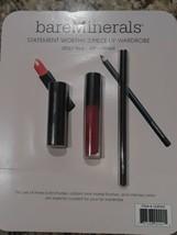 bareMinerals Lip Trio SRSLY RED Luxe Lipstick 3 Piece Set - NEW - $15.68