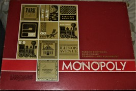 Monopoly Board Game Vintage 1964 Parker Brothers Red Box w/ Banker Tray complete - $40.00
