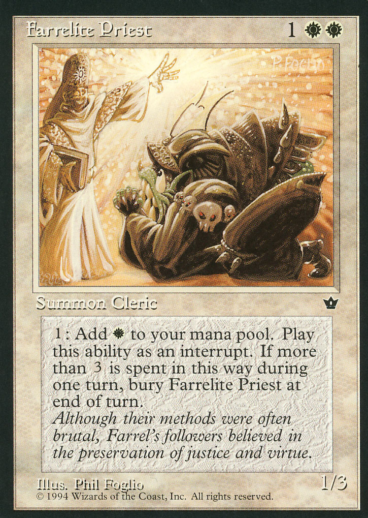 Magic: The Gathering: Fallen Empires - Farrelite Priest