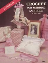GayleMot 1985 CROCHET for Wedding & Home GM65 20 Projects Booklet Leaflet - $3.46