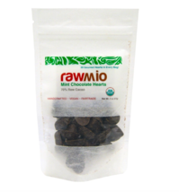 Keto candy: Rawmio Chocolate Mint Hearts, 2 oz 2 ct (9 net carbs) - $23.27