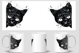 black cat mugs  cold hot heat reveal magic tran... - $19.91