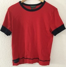 Polo Jeans Co. By Ralph Lauren Womens Light S/S Crew Neck Sweater Sz XL Red - $19.79