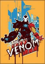 Marvel Maximum Venom Venomized Iron Man Art Image Refrigerator Magnet NE... - $3.99