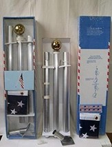 ALBATROS 6in Flag Pole Ball Top 6ft White Pole Kit Diameter 1.0ft Diamet... - $95.93