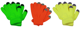Bright Neon Texting Winter Gloves For Any Touch Screen - $4.95