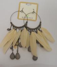 Women Fashion Drop Dangle Earrings Feathers Hoop Beads Hook Fasteners WI... - $5.99