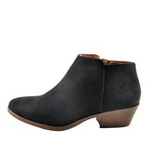 Soda Mug Black / Brown Women's Faux Suede Casual Ankle Zip Booties - $28.95
