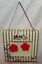 Froufrous Pieds Magnétique Gemmes Roses Rouge Cœur AIMANT Chaussure Deco... - $24.60