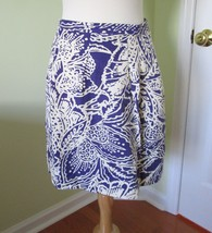 New Ann Taylor Loft Woman Linen Rayon A-Line Skirt Purple SK06770 Nwt - $29.67