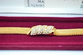 Camrose and Kross Jacqueline Kennedy JBK Clear Rhinestone Metal Mesh Bracelet - $89.09