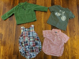 Lot of 4 - 12 to 18 Month Boys Outfits REI Fleece Jacket Baby Gap - $7.24