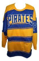 Custom Name # Pittsburgh Pirates Retro Hockey Jersey 1928 New Yellow Any Size image 1