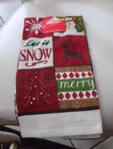"Holiday Style Christmas winter kitchen towel 14"" x 24"" NWT - $6.99"