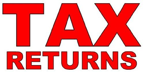 3x6 Vinyl Banner - Tax Return