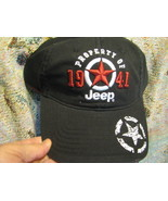 Baseball Cap hat Property of Jeep 1941 Black color - $29.65