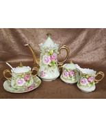 Vintage Lefton Heritage Green (Rose) Tea Service Set, 5 pieces (circa 19... - $189.00