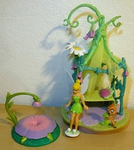 2006 Disney Fairies Tinker Bell Canopy Bed Play Set Playmates  - $51.48