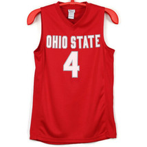 Ohio State Buckeyes OSU Mens Basketball Jersey Shirt #4 Red Size M Medium - $36.49