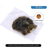Coffee brown OYSTER PEARL INDIVIDUALLY WRAPPED AAA+++  20 PCS New arrival - $88.46