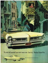 Vintage 1965 Magazine Ad Pontiac Grand Prix Tell Yourself You Don't Want One - $5.93