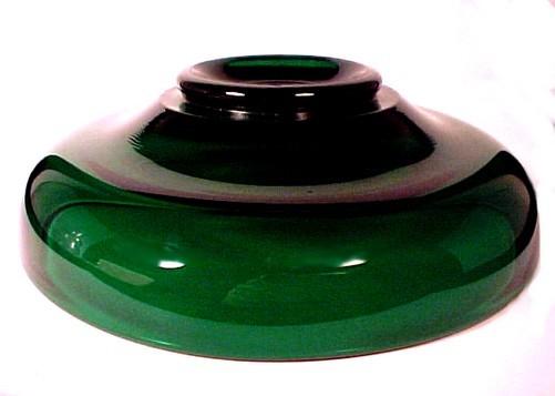Cambridge Elegant Glass Emerald Green 7 inch Low Bowl Depression Dish