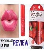 Blue heaven Naughty Color Lip Balm (Strawberry) in new pack with free sh... - $6.86