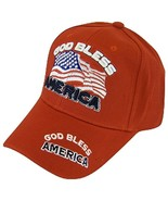 God Bless America USA Patriotic Men's Adjustable Baseball Cap (Red) - $11.95