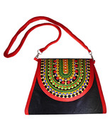 Zonnie Zania Indian Embroidered Medium Purse Black - $31.20
