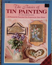 Basics of Tin Painting By Gigi Smith-Burns Tole Painting Book Punched Art Vtg - $9.98