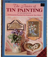 Basics of Tin Painting By Gigi Smith-Burns Tole Painting Book Punched Ar... - $9.98