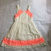 Free People Alabaster Georgia Coral Lace Fit Flare Mini Dress Size 4 Festival - $19.77