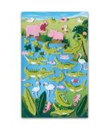 CUTE HIPPO & CROCODILE FELT STICKERS Sheet Animal Flamingo Scrapbook Sti... - $3.99