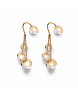 Auth Christian DIOR Classic Mise En Dior TRIBAL Multi Pearl Drop Dangle ... - $350.00