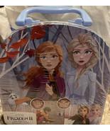 Frozen II On-The-Go Sidewalk Chalk Tin Set - W/ 1 Stencil 7 Chalk Sticks - $10.66