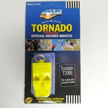 Acme Tornado T2000 Pealess Official Referee Whistle Yellow Most Powerful - $8.68