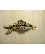 Mint Vintage Cloisonne Koi Fish Pendant / Necklace Movable Charm (no chain) - $20.90