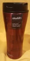New Aladdin Panama Travel Mug 12oz Stainless Steel - Crimson Insulated Thermos - $14.10