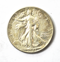 1941 D 50c Walking Liberty Silver Half Dollar Fifty Cents US Denver - $17.81